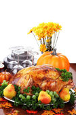 Festive Thanksgiving Dinner — Foto de Stock