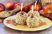 Candy Apples and Ingredients — Stock Photo