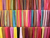 Colorful scarves background — Stock Photo