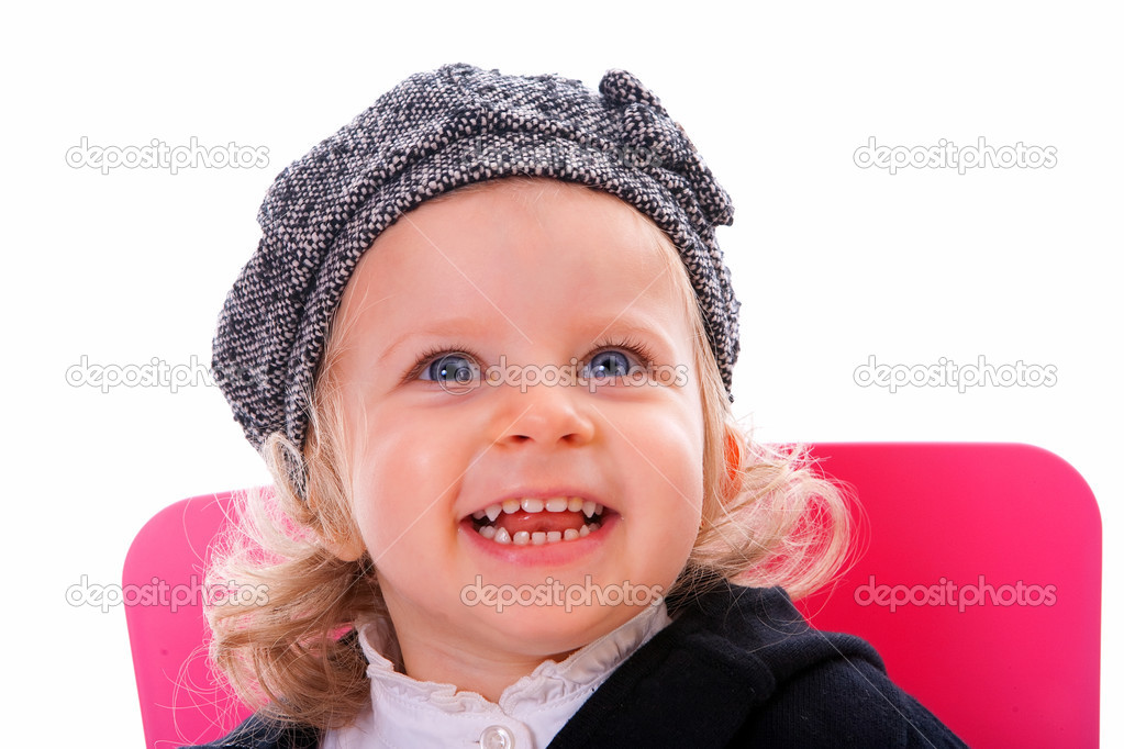 A beautiful little girl smiling   Stock Photo #2995956