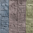 Stock Photo: Hieroglyphs in colours