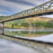 Foto Stock: Bridge above Scottish lake