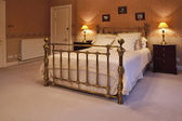 King size bed — Stock Photo