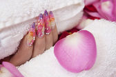 Beautiful nails — 图库照片