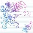 Royalty-Free Stock Vector Image: Banner Scroll Sketchy Doodles Vector Illustration Design