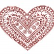 Royalty-Free Stock Vector Image: Henna Mehndi Pasiley Heart Doodle Vector