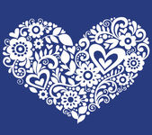 Swirly Heart Vector Silhouette Design Element — Stock Vector