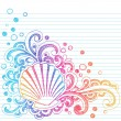 Royalty-Free Stock Vector Image: Seashell Swirls Sketchy Notebook Doodle