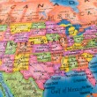 Global Studies A Colorful Closeup of United Stat — Stock Photo