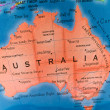 Global Studies A Colorful Closeup of Australia — Stock Photo