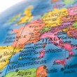 Global Studies A Colorful Closeup of Europe and — Stock Photo