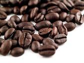 咖啡豆填充框架作为背景 — 图库照片