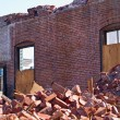 A demolition site with a pile of brick — Stock Photo #2966438