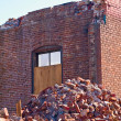 A demolition site with a pile of brick — Stock Photo