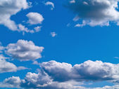 Gray Clouds on a Blue Sky — Stock Photo