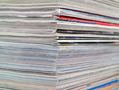 Magazine Edge Stacked Full Frame — Stock Photo