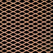 Rusted metal grate securing a tunnel hole — Stock Photo #2988212