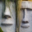 Easter Island Planters — Stock Photo