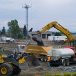 Stock Photo: Heavy Duty construction equipment at work site