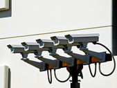 Group of Five Security Cameras — Stock Photo