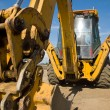 Heavy Duty construction equipment parked at work site — Stock Photo