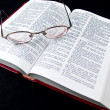 Stock Photo: The Bible opened to the Book of Proverbs