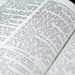 The Bible opened to the Book of Proverbs — Stock Photo