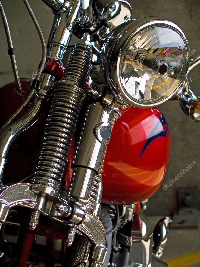 Stationary Motorcycle Details taken when Parked Under Cover — Stock Photo #3646774