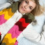 Blond Winter Girl — Stock Photo