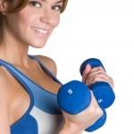 Happy Fitness Girl — Stock Photo
