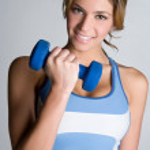 Smiling Exercise Woman — Stock Photo