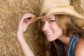 Happy Country Woman — Stock Photo
