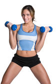 Girl Lifting Weights — Stock Photo
