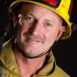 Stock Photo: Smiling Fireman