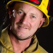 Smiling Fireman - Stock Photo