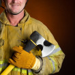 Smiling Firefighter - 图库照片