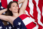 Patriotic Girl — Photo