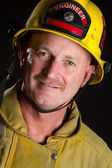 Smiling Fireman — Stock Photo