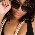 femme noire sexy — Photo
