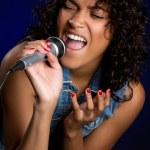 Black Female Singer — Stock Photo