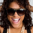 Stock Photo: Happy Sunglasses Woman