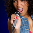 Singing Woman — Stock Photo