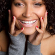 Smiling African American Woman — Stock Photo