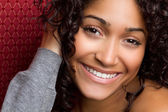Smiling Black Woman — Stock Photo