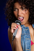 Singing Woman — Stock Photo