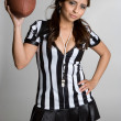 Sexy Football Referee - Stock Photo