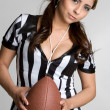Female Football Referee — Stock Photo