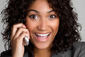 Happy Phone Woman — Stock Photo
