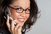 Phone Woman — Stock Photo