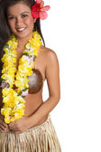 Ragazza hawaiana hula — Foto Stock